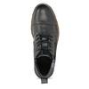 Pánská kožená kotníčková obuv se zipem bata, šedá, 896-2678 - 17