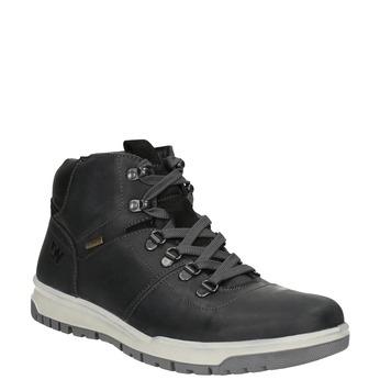Pánská kožená zimní obuv weinbrenner, černá, 896-6701 - 13