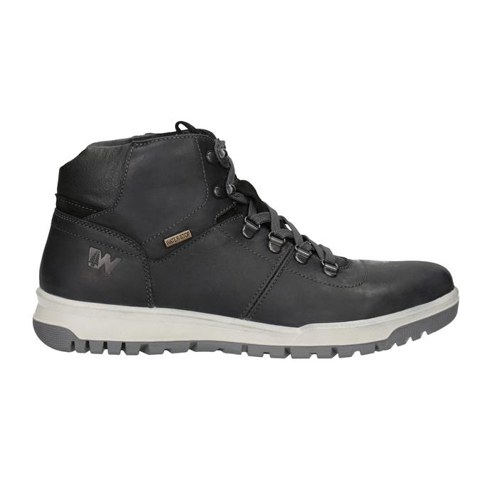 Pánská kožená zimní obuv weinbrenner, černá, 896-6701 - 26