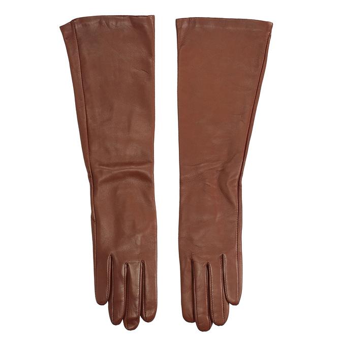 Dámské kožené rukavice junek, hnědá, 924-3005 - 26
