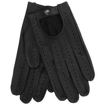 Kožené rukavice s perforací junek, černá, 904-6001 - 13
