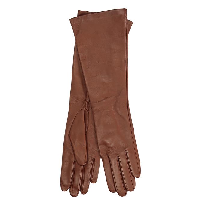 Dámské kožené rukavice junek, hnědá, 924-3005 - 13