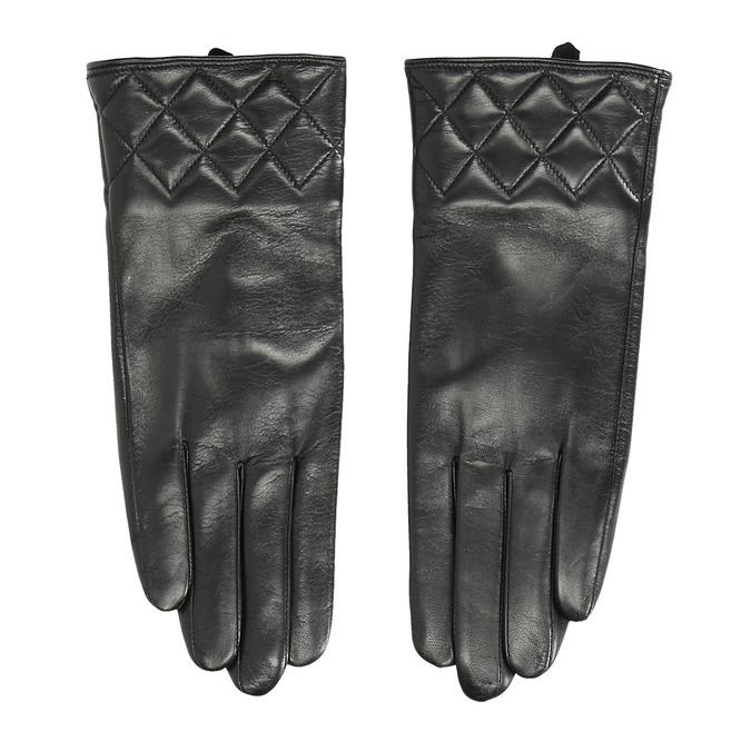 Dámské kožené rukavice černé bata, černá, 904-6131 - 26