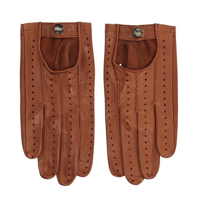 Kožené rukavice junek, hnědá, 904-3001 - 26