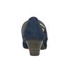 Modré kožené lodičky šíře H bata, modrá, 623-9600 - 16