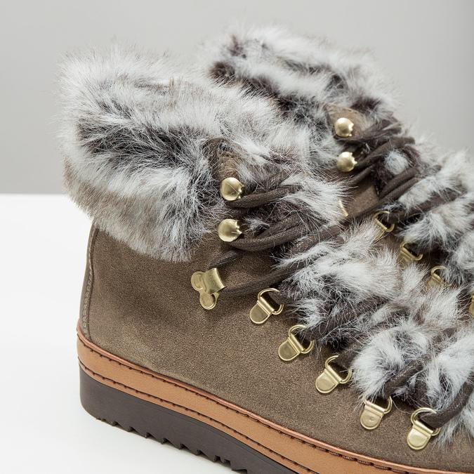 Dámská zimní obuv s kožíškem bata, hnědá, 596-3675 - 14