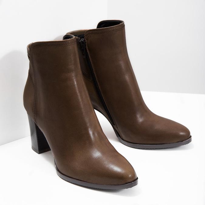 Kožená kotníčková obuv bata, hnědá, 794-4650 - 18