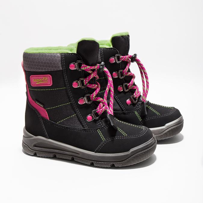 Dětská zimní obuv superfit, černá, 399-6029 - 26