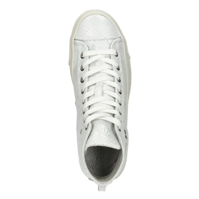 Bílé kotníčkové tenisky diesel, bílá, 501-6743 - 17