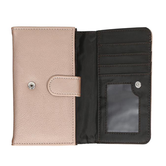 Dámská peněženka s prošitím bata, červená, 941-5156 - 15