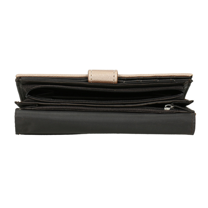 Dámská peněženka s prošitím bata, červená, 941-5156 - 17
