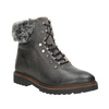 Kožená zimní obuv s kožíškem bata, šedá, 594-6650 - 13