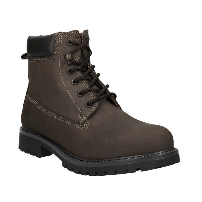 Kožená kotníčková obuv pánská weinbrenner, hnědá, 896-4656 - 13