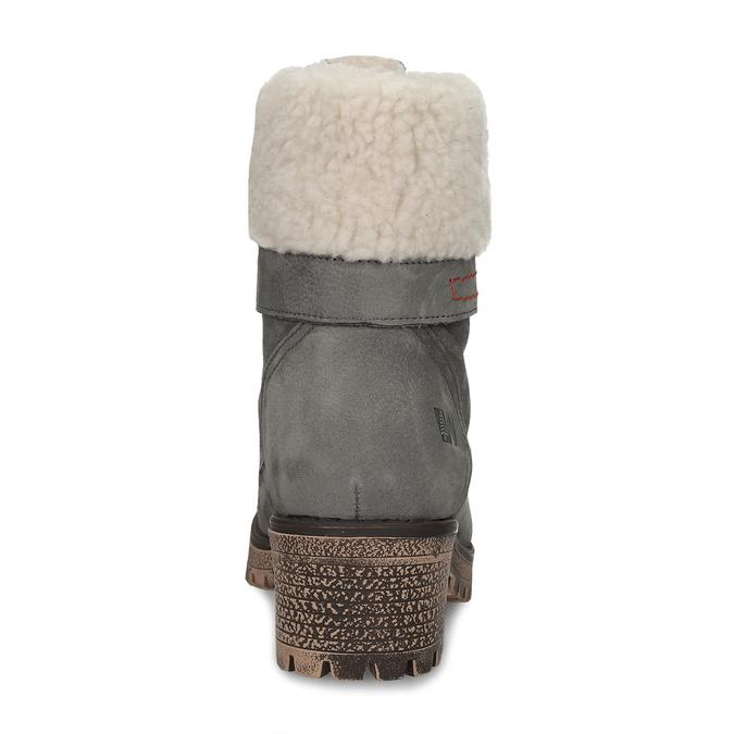 Šedá dámská kožená zimní obuv se zateplením weinbrenner, šedá, 696-2168 - 15