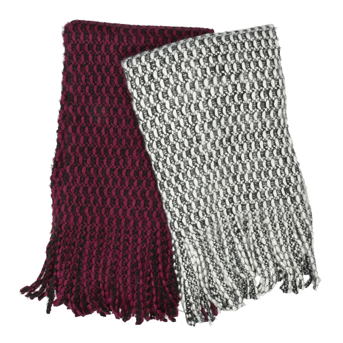 Teplá pletená šála bata, vícebarevné, 909-0636 - 13