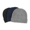 Pletená čepice s lemem bata, vícebarevné, 909-0677 - 13