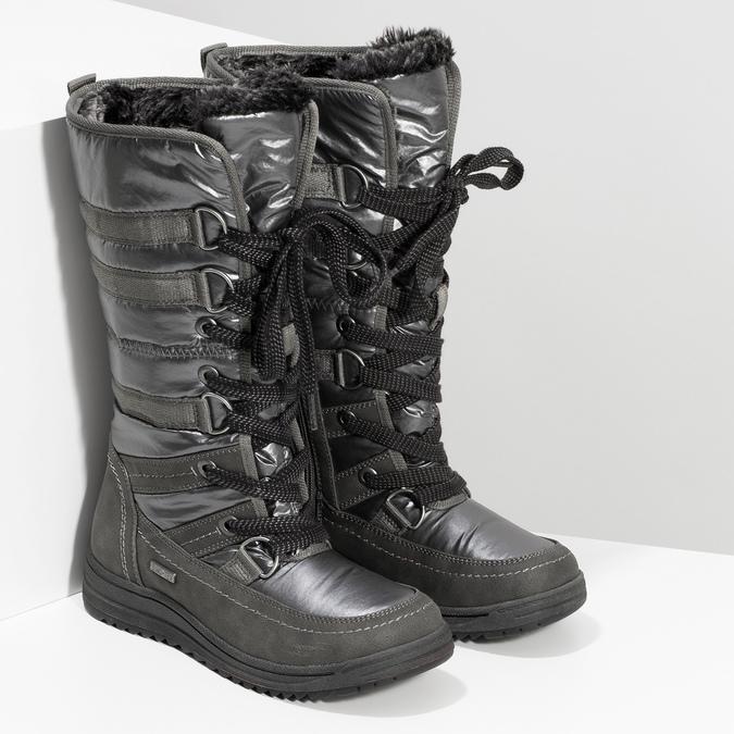 Dámské zimní sněhule bata, šedá, 599-2619 - 26