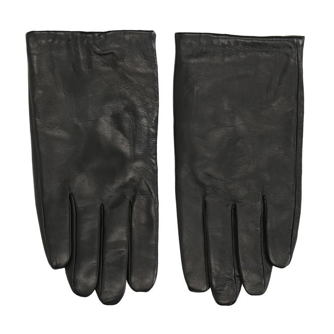 Kožené černé rukavice bata, černá, 904-6130 - 26