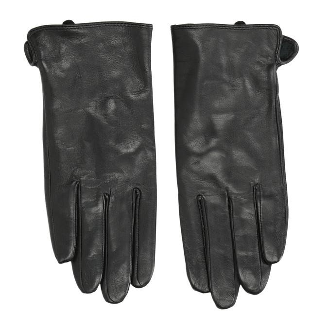 Dámské kožené rukavice bata, černá, 904-6129 - 26