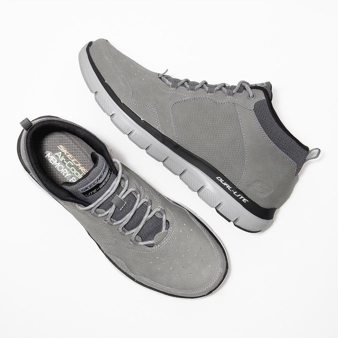 Kožená kotníčková obuv pánská skechers, černá, 806-6327 - 26