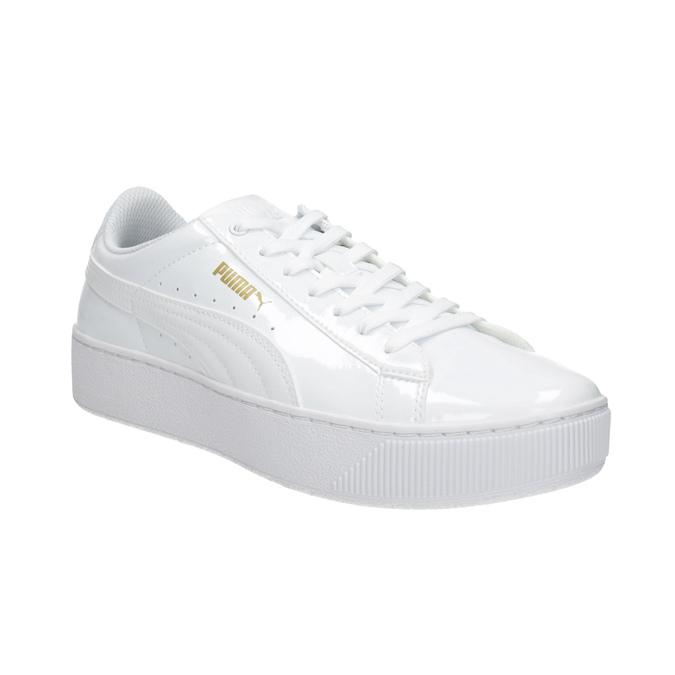 Bílé dámské tenisky na flatformě puma, bílá, 501-1159 - 13
