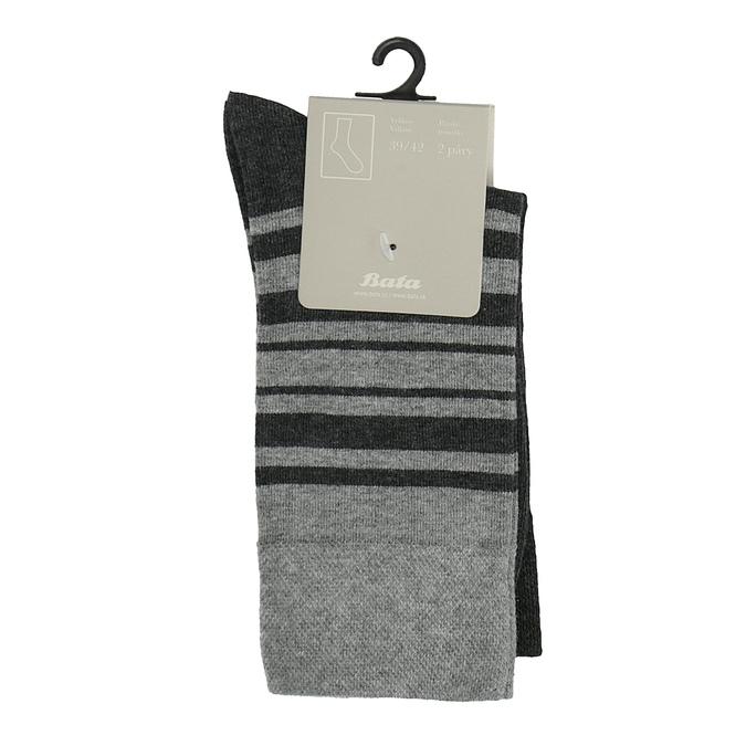 Pánské ponožky s pruhy bata, černá, 919-6640 - 13