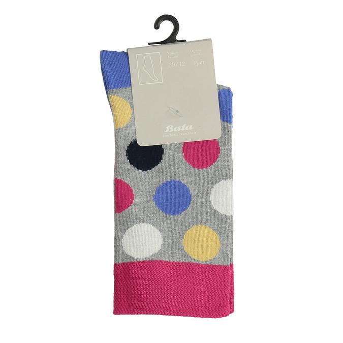 Ponožky s puntíky bata, šedá, 919-2659 - 13