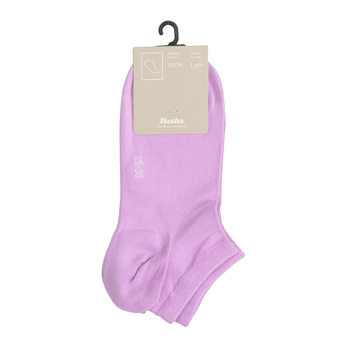Růžové ponožky kotníkové bata, růžová, 919-5876 - 13