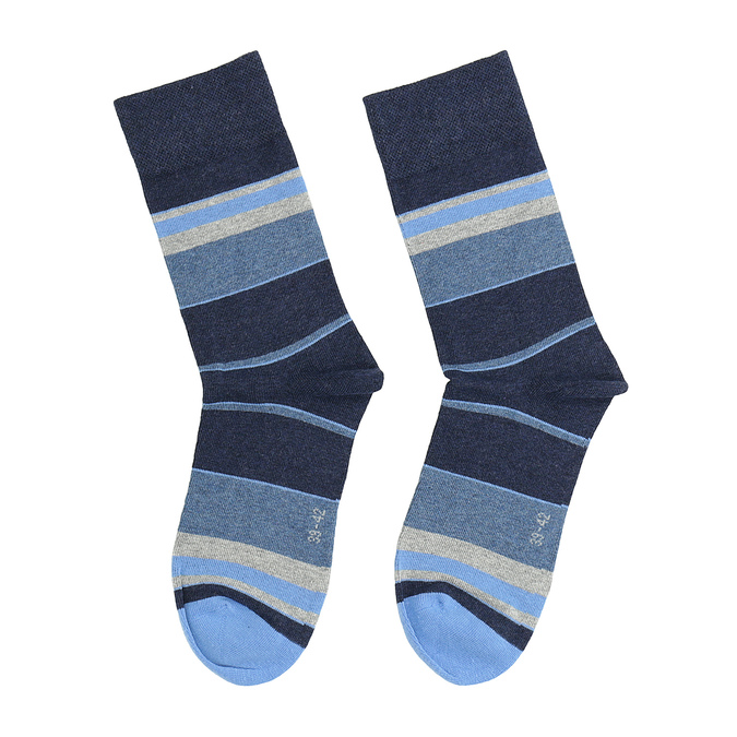 Pánské pruhované ponožky bata, 919-9641 - 26