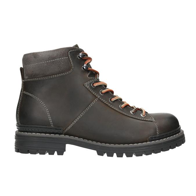 Kotníčková zimní obuv kožená bata, šedá, 896-2660 - 15