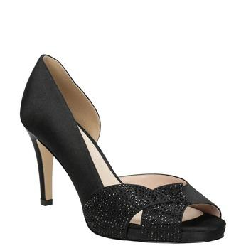 Černé lodičky s kamínky bata, černá, 729-6613 - 13