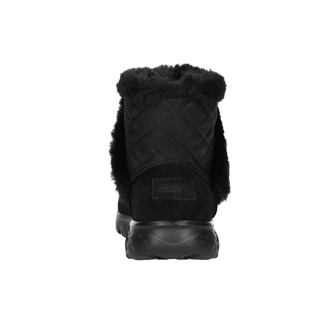 Dámská obuv z broušené kůže skechers, černá, 503-6326 - 15