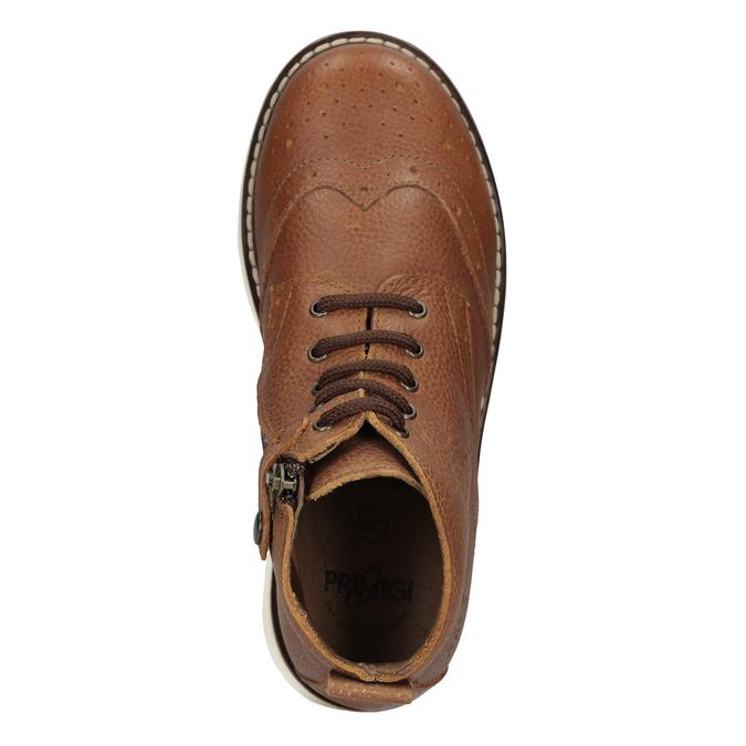 Dětská kožená kotníčková obuv primigi, hnědá, 314-3004 - 17