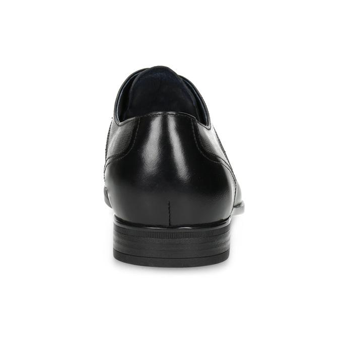 Kožené černé pánské polobotky bata, černá, 824-6758 - 15