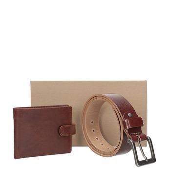 Dárkové balení kožený opasek a peněženka bata, hnědá, 954-3201 - 13