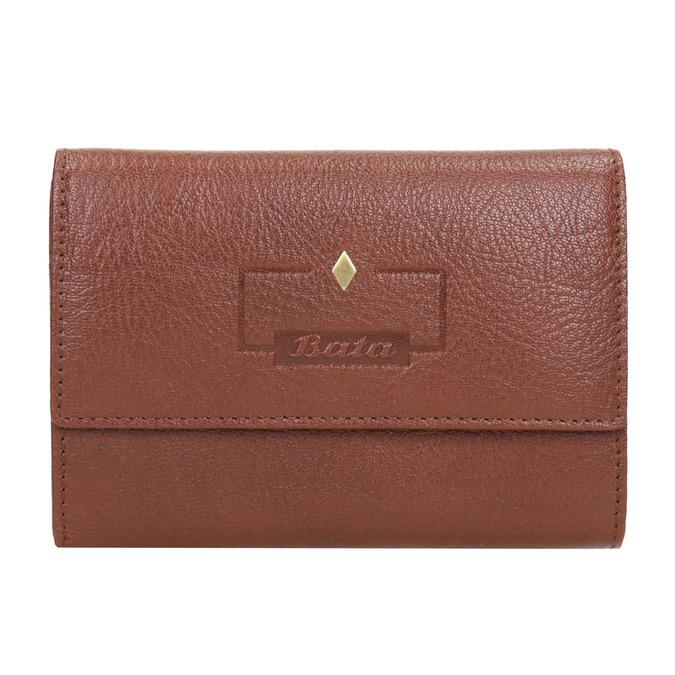 Dámská kožená peněženka bata, hnědá, 944-4189 - 26