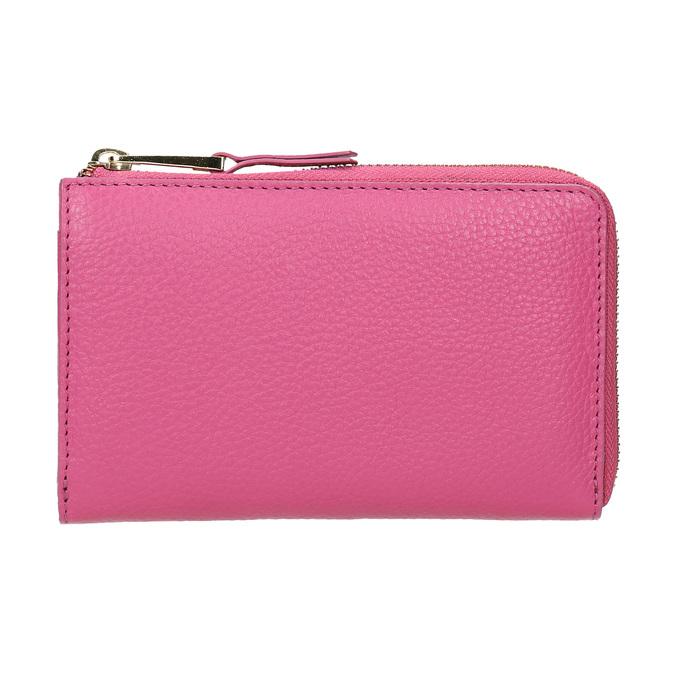Růžová kožená peněženka bata, růžová, 946-5284 - 26