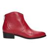 Červená kotníčková obuv bata, červená, 594-5665 - 16
