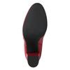 Červené kotníčkové kozačky z kůže bata, červená, 794-5652 - 19
