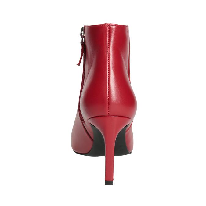 Kožené kotníčkové kozačky červené bata, červená, 794-5651 - 15