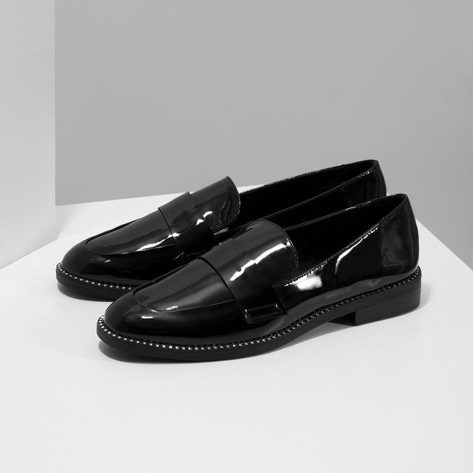 Lakované dámské mokasíny bata, černá, 511-6607 - 16