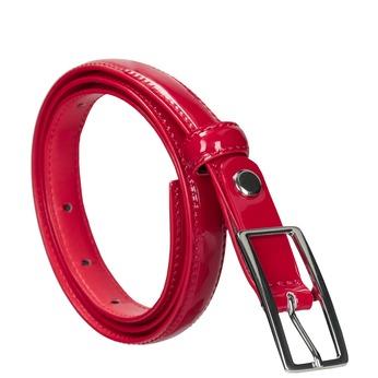 Červený lakovaný opasek bata, červená, 951-5603 - 13
