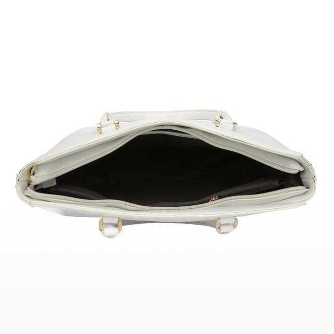 Bílá dámská kabelka bata, bílá, 961-1845 - 15