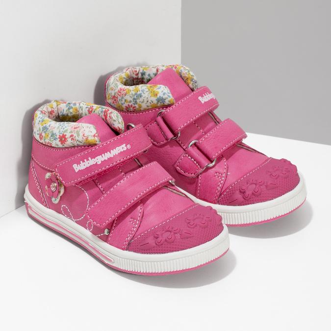 Růžová kotníčková obuv na suché zipy bubblegummers, 121-5618 - 26
