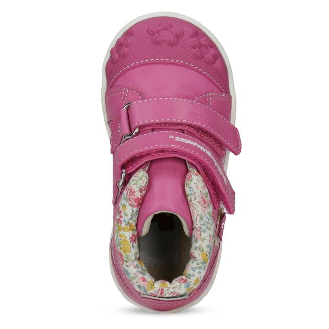 Růžová kotníčková obuv na suché zipy bubblegummers, 121-5618 - 17