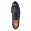 Modré kožené polobotky bata, modrá, 826-9997 - 15