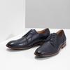 Modré kožené polobotky bata, modrá, 826-9997 - 16