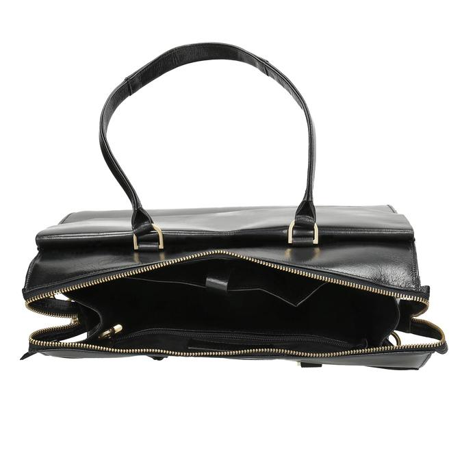 Kožená kabelka se zlatými detaily royal-republiq, černá, 964-6069 - 15