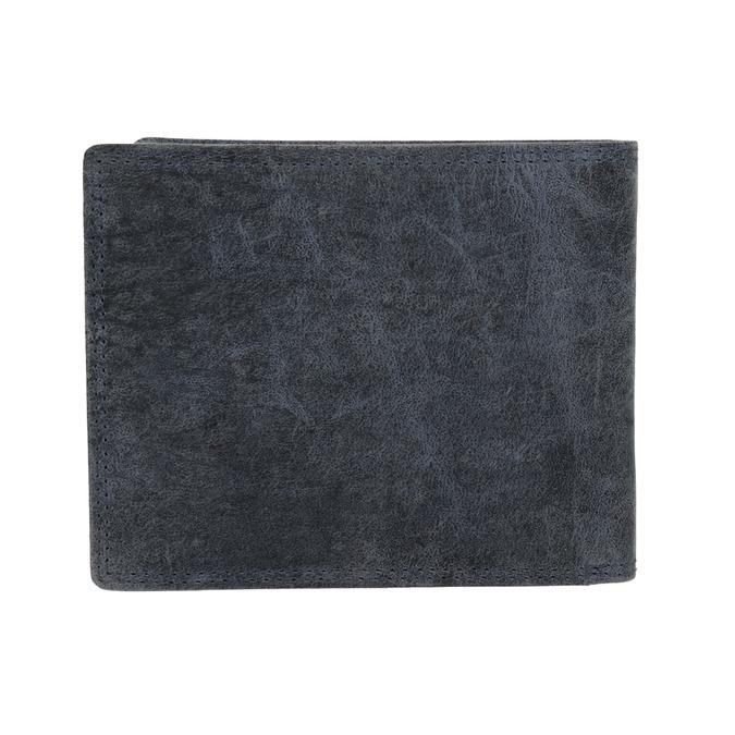 Pánská kožená peněženka modrá bata, 944-9207 - 16