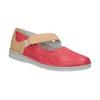 Kožené baleríny s páskem bata, červená, 526-5651 - 13